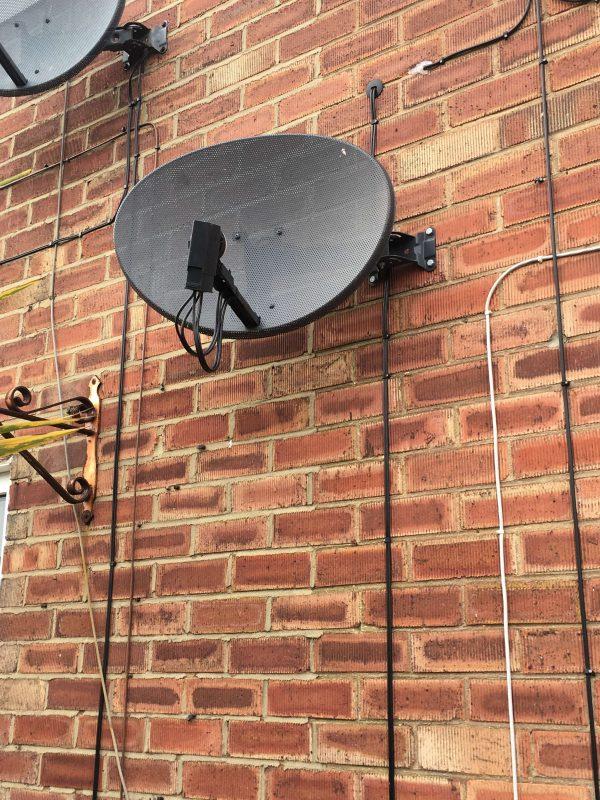 South Shields Satellite Dish Close Up 2   Paul Davis TV Aerials