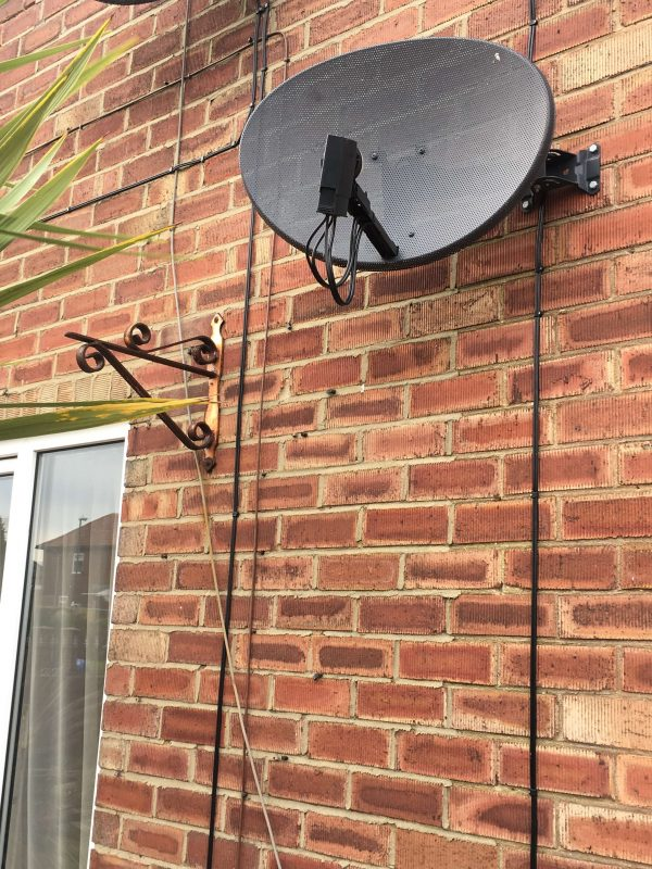 South Shields Satellite Dish Close Up   Paul Davis TV Aerials